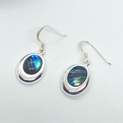 Paua Natural Earrings - Small Oval PE17-SV